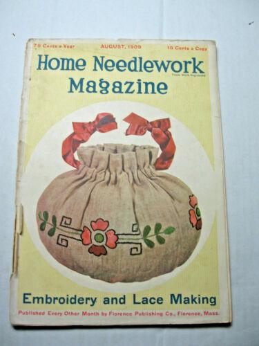 August 1909 Home Needlework Magazine
