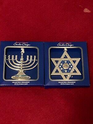 Studio Design Regent Square Christmas Ornament Set Of 2 Two Hanukkah -