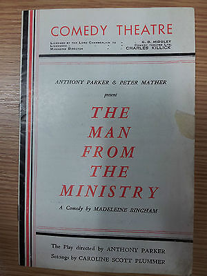 Vintage Theatre programme: THE MAN FROM THE MINISTRY -  by Madeleine Bingham