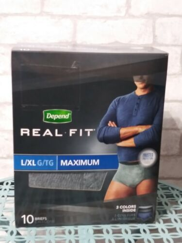 Depends® Real Fit® Briefs for Men  1/Pack of 10