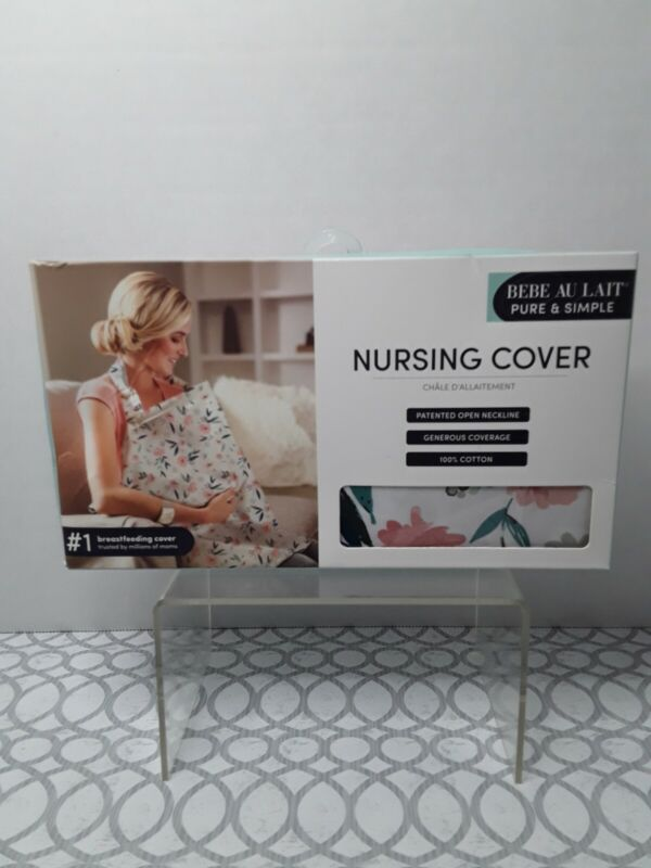 BEBE AU LAIT Pure & Simple Nursing Cover 100% Cotton NWT Blush Floral