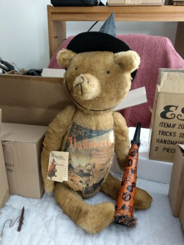 Vintage Halloween Victorian Style Witch Bear Bethany Lowe