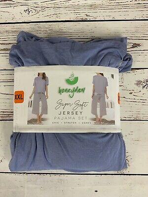 Honeydew Super Soft Jersey 2 pc Pajama Set Bluebell Stripe Size XXL 2178