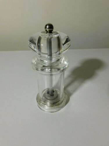 COLE & MASON ACRYLIC PEPPER MILL GRINDER GOOD USED CONDITION