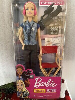 Barbie FILM DIRECTOR Doll You Can Be Anything Set Directors Chair New Free Ship