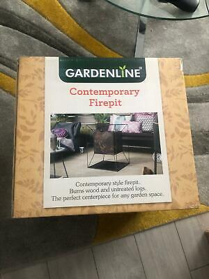 Brand new boxed Gardenline contemporary fire pit - Next day dispatch -  In hand