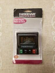 New - Farberware Professional Large Display Timer & Clock - Long & Loud Ring