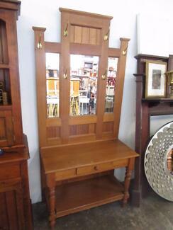 D27012 Vintage Federation Style Oak Hallstand Hall Stand