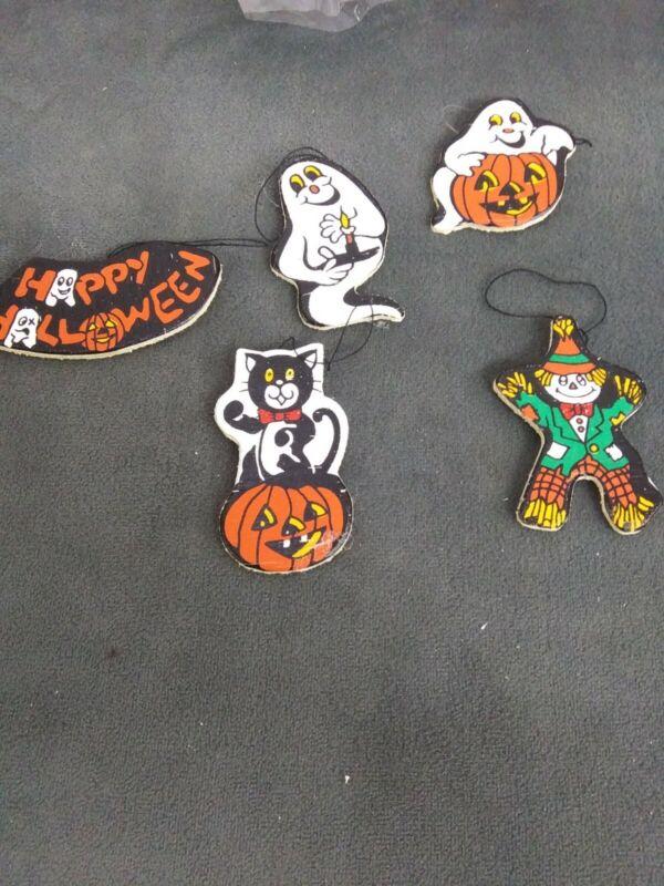 Vintage Lot Of 40 Halloween Magnets Crafts Kids Teachers 5 designs packs of 5
