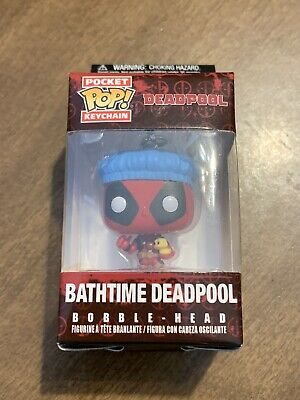 BATHTIME DEADPOOL Pocket Pop Keychain Funko Marvel Collector Corps