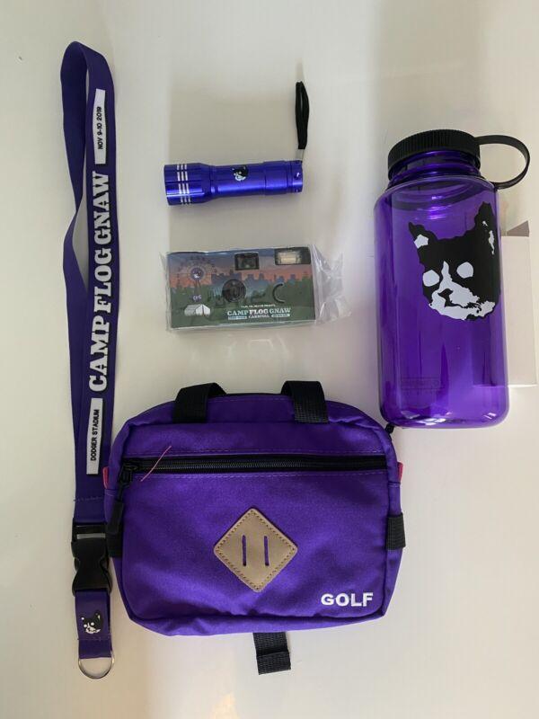 Camp Flog Gnaw 2019 VIP merch pkg. Tyler The Creator-golf wang,etc