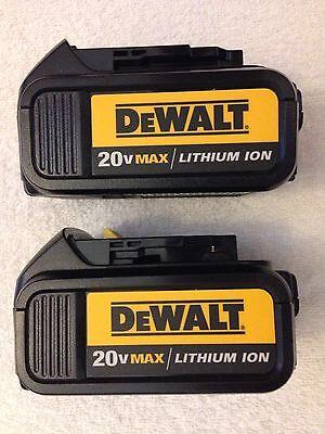 2 New Dewalt 20V 20 Volt Max DCB200 3.0Ah Lithium Ion Batteries Li-ion DCB200-2