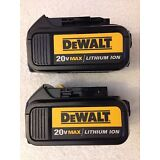 2 New Dewalt 20V 20 Volt Max DCB200 3.0Ah Lithium Ion Batteries Li-ion DCB200-2