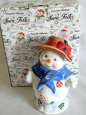 Snowman Figurine Enesco Snow Folks Nipping At Your Nose Priscilla Hillman