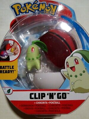POKEMON CLIP N GO S4 BATTLE READY CHIKORITA + POKEBALL