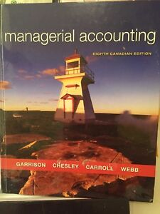 Managerial Accounting, 8th edition.