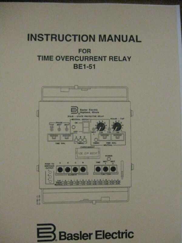 Basler Electric Protective Relay BE1-51 Time Overcurrent   New