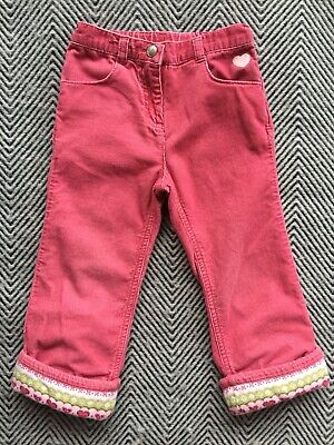 Gymboree Corduroy Pink Pants Girls Size 2T Adjustable Waist Gymboree Corduroy Pant