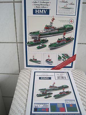 Essberger Breusing Lüken Seenotrettungskreuzer  Kartonbausatz incl. Lasercatsatz