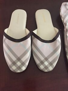 Women's Burberry Slippers. Size 8