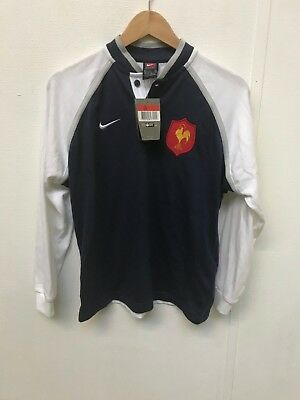 a6033148622 Nike France Rugby Kid's Logo Retro LS Jersey - 14-16 Years- Navy - New