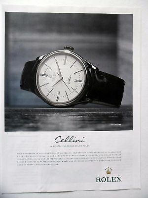PUBLICITE-ADVERTISING :  ROLEX Cellini Time  2014 Montres (Cellini Time)