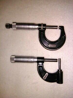 Starrett Outside Tube Micrometer Lot. 0 - 1 Machinist Tools. 2 Tools. Mics