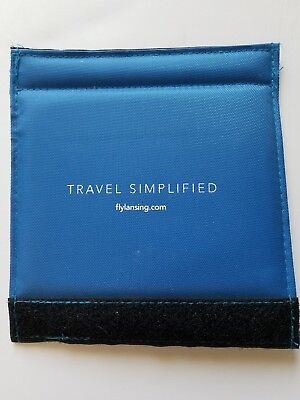 Luggage Spotter Tag - Luggage Spotter Suitcase Handle Wrap Set 2 ID Tag Blue Lansing Capital Airport