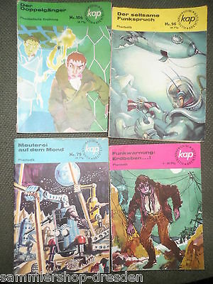 4 x KAP Utopisch DDR Krimi Phantastik Abenteuer Nr. 9 79 96 106 gut