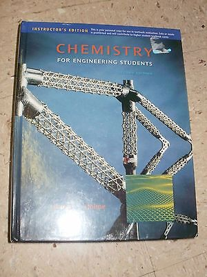 chemistry for engineering students brown holme instructors edition 2011
