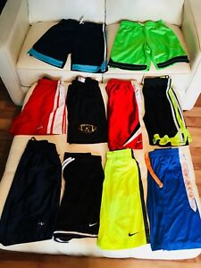 11 pairs of Brand Name Boys Youth (14-16)XL Athletic Shorts