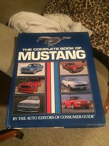 Mustang book all years to 1989