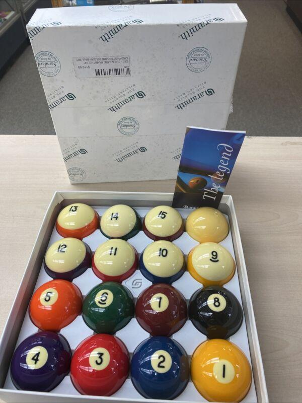 Genuine Belgian Aramith Crown Standard Pool/Billiard Ball Set Phenolic Resin CSB
