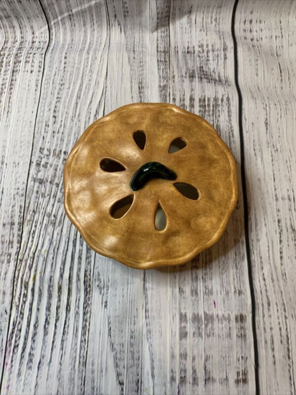 Vintage Ceramic Pie Plate Dish With Lid