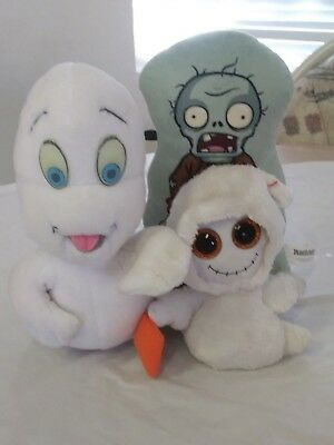 LOT of Halloween theme plushie (plants vs zombies, ghost)