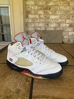 Nike Air Jordan Retro 5 Fire Red Size 13 Mens