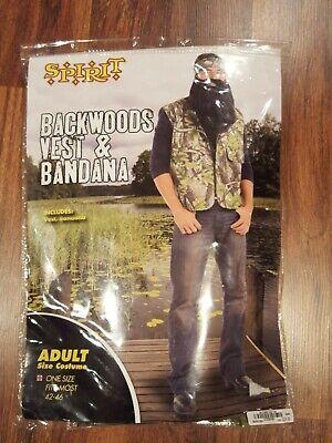 Halloween Costumes Spirt (Backwoods Vest & Bandana Spirt Halloween Costume NEW One Size Fits)