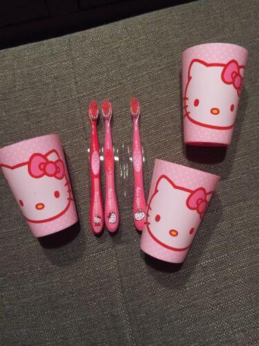 Hello Kitty   - 1 zuckersüße Zahnbürste und 1 Becher