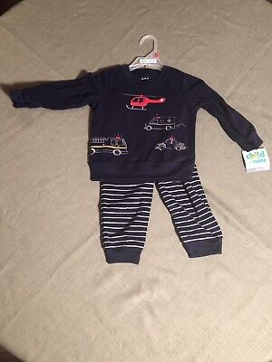 Carters Size 18 Month NEW! Police/Fire Fleece Outfit