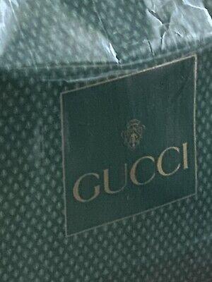 Gucci Vintage Large Green Glossy Shopping Bag w/ Logos, Circa Late-1980s