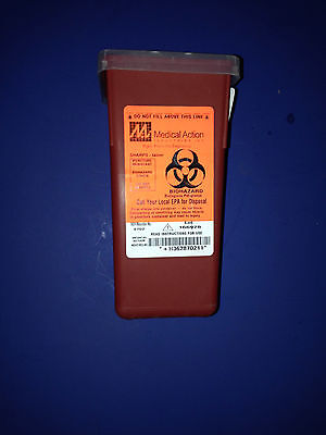 Sharpsneedle Biohazard Disposal Container 1 Quart Med Act Indus. Inc. 8702
