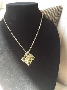 Gold tone chain and pendant for sale