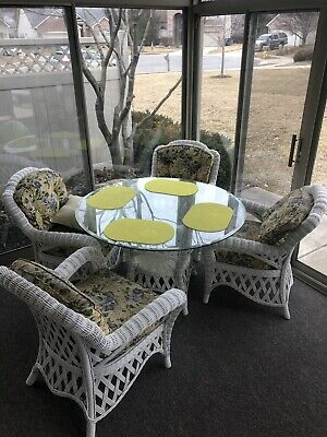 Real Wood Wicker Table