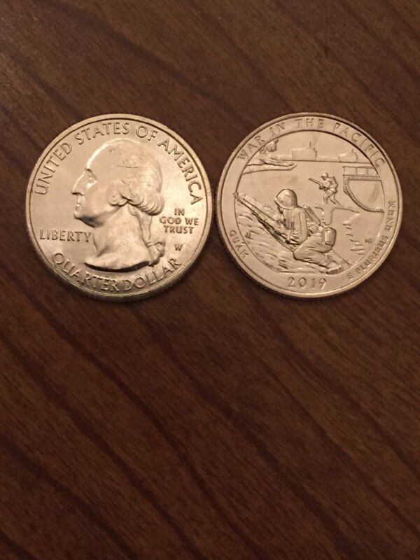 2019-W West Point Quarter - War In The Pacific (Guam). UNC Handpicked From Roll