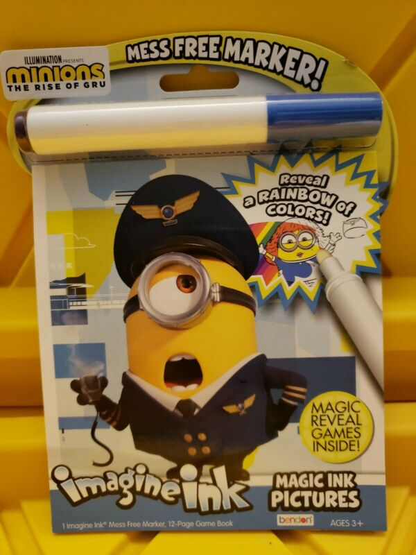 Imagine Ink Minions The Rise of Gru Mess Free Coloring Books Brand New