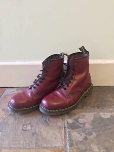 Cherry red Doc Martins UK 42 Brunswick West Moreland Area Preview