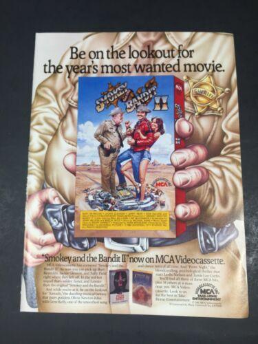 Vintage 1981 SMOKEY AND THE BANDIT II MCA Video poster Print AD Burt Reynolds