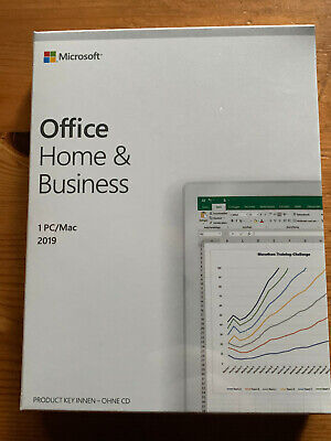 Microsoft Office Home and Business 2019 (Product Key Card ohne Datenträger)