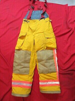 Chieftain Turnout Pants 30-32 Waist X 30 Fire Coat Bunker Gear Yellow