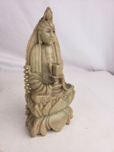 Chinese carved stone figurine, superb, antique/vintage